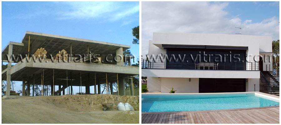 Unifamiliares vitraris constirucciones for Proyecto chalet moderno